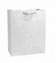Silver Glitter Large Gift Bag